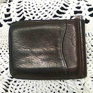 Vintage Brighton men's brown leather wallet